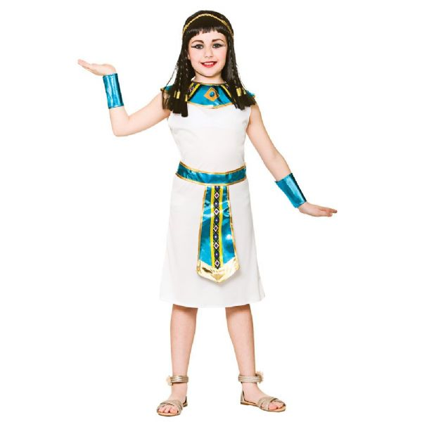 Childrens Girls Cleopatra Costume for Ancient Egyptian Queen Fancy Dress